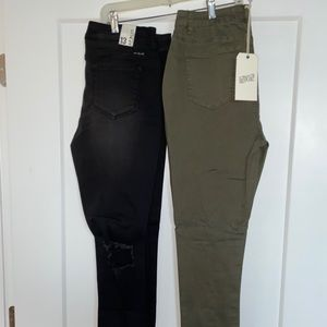 2 NWT pair of forever 21 distressed pants.